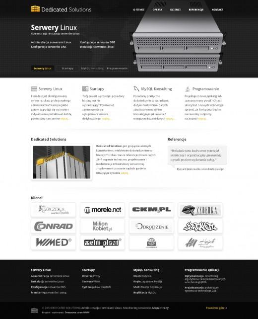 strona-www-Administracja-serwerami-Linux-–-Dedicated-Solutions