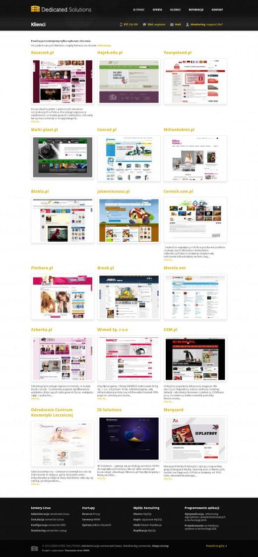 strona-www-Klienci---Administracja-serwerami-Linux-–-Dedicated-Solutions