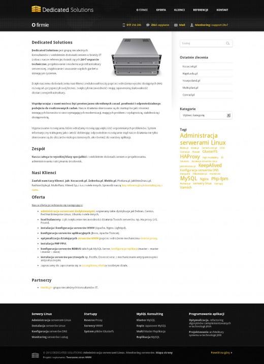 strona-www-O-firmie---Administracja-serwerami-Linux-–-Dedicated-Solutions