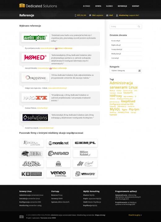 strona-www-Referencje---Administracja-serwerami-Linux-–-Dedicated-Solutions