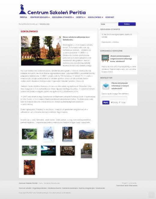 strona-www-Sokołowsko - Centrum Szkoleń Peritia